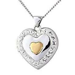 Love Story - Sterling silver & 9ct rose gold crystal set pendant