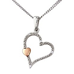 Love Story - Silver and 9ct rose gold pendant