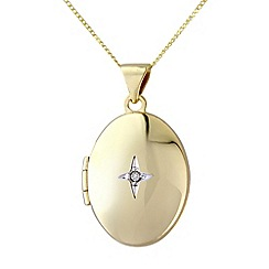 Love Story - 9ct gold diamond locket