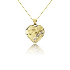 Precious Moments - 9ct gold and silver 'special mum' locket