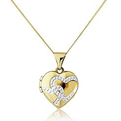 Love Story - 9ct gold heart locket