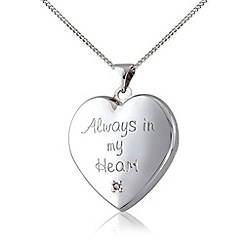 Love Story - Silver and 9ct gold diamond locket