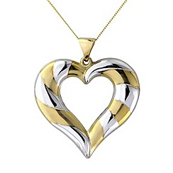 Love Story - 9ct gold open heart pendant
