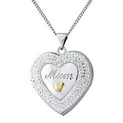 Precious Moments - Silver, 9ct gold mum locket