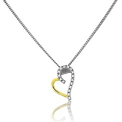 Love Story - Silver and 9ct gold heart pendant