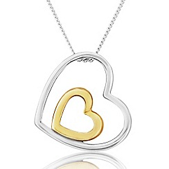 Love Story - 9ct White and Yellow Gold Ladies Pendant