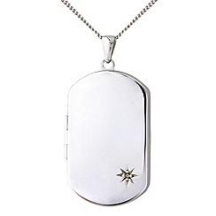 Precious Moments - Sterling silver tag pendant