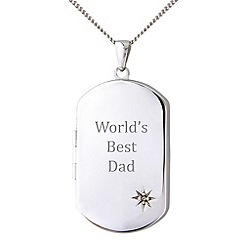 Precious Moments - Sterling silver 'Worlds Best Dad' pendant