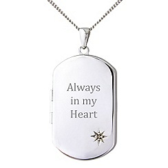 Precious Moments - Sterling silver 'Always In My Heart' pendant