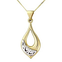 Love Story - 9ct gold ladies pendant