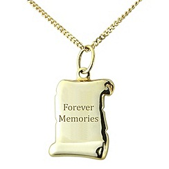 Precious Moments - Sterling silver scroll 'Forever Memories' pendant