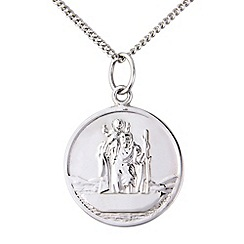 Precious Moments - Silver, ladies st christoper pendant