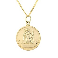 Precious Moments - Silver and yellow rhodium st christopher pendant