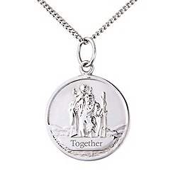 Precious Moments - Silver ladies st christopher pendant