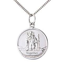 Precious Moments - Silver ladies st christopher pendant