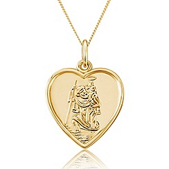 Precious Moments - 9ct Gold Plated Onto Silver St Christopher Pendant