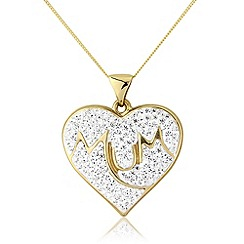 Precious Moments - 9ct gold crystal mum pendant