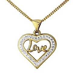 Precious Moments - 9ct gold crystal pendant