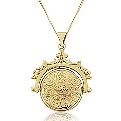 Love Story - 9ct Gold Ladies 'Victoriana' Locket