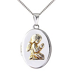 Precious Moments - Silver yellow rhodium locket