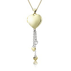 Love Story - Silver & 9ct gold plate charm locket