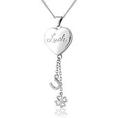 Precious Moments - Silver locket charm pendant