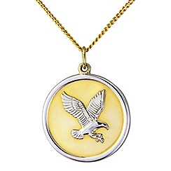 Precious Moments - Silver and yellow rhodium plate 'Eagle' pendant