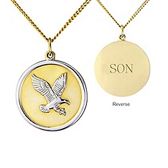 Precious Moments - Silver and yellow rhodium plate 'Son' eagle pendant