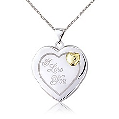 Love Story - Sterling silver 'I Love You' locket pendant