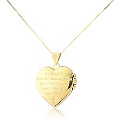 Love Story - 9ct yellow gold locket pendant