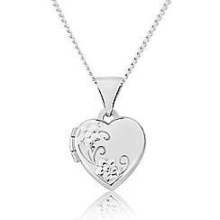 Love Story - Sterling Silver Heart Locket