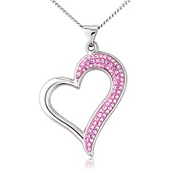 Love Story - Silver and pink crystal pendant