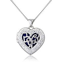 Love Story - Silver crystal locket
