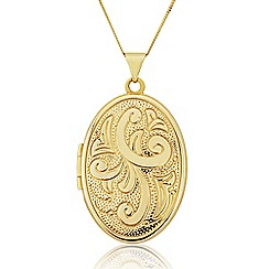 Love Story - 9ct Gold 'Family' Locket