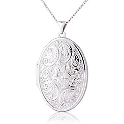 Love Story - Sterling silver oval locket pendant
