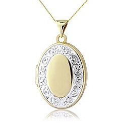 Precious Moments - 9ct yellow gold locket pendant