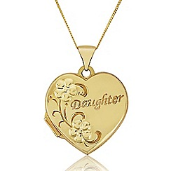 Precious Moments - 9ct Gold Heart 'Daughter' Locket