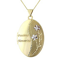 Precious Moments - 9ct gold 'Precious memories' locket