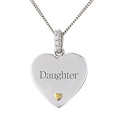 Precious Moments - Sterling silver heart 'Daughter' pendant