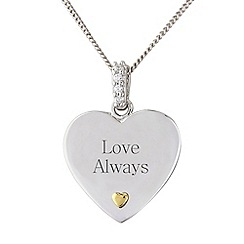 Precious Moments - Silver heart 'Love always' pendant