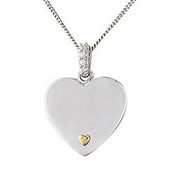 Precious Moments - Silver stone-set heart pendant
