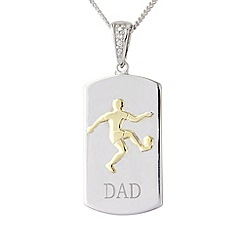 Precious Moments - Sterling silver football 'Dad' pendant