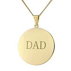 Precious Moments - Sterling silver gold plated circle 'Dad' pendant