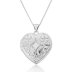 Love Story - Sterling Silver 'Heart' Locket