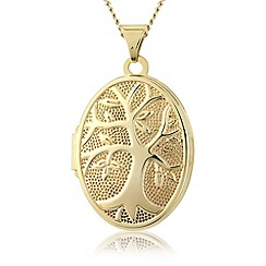Precious Moments - 9ct gold tree of life locket