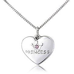 Precious Moments - Sterling silver children's 'Princess' pendant