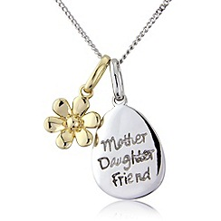 Precious Moments - Silver 9ct gold plated, pendant