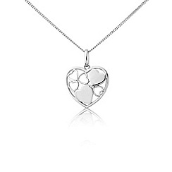 Love Story - Sterling silver heart shaped pendant
