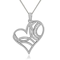 Precious Moments - Sterling silver stone set ladies pendant