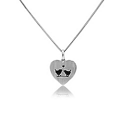 Precious Moments - Silver 'Love bird' heart pendant